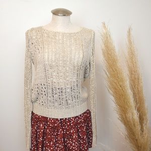 🌵3 for $23🌵 Cynthia Rowley knitted Cream sweater